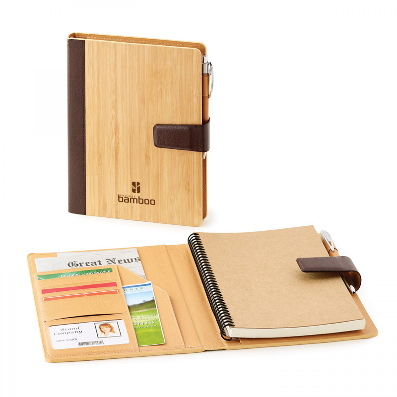 Bamboo. Refillable Journal