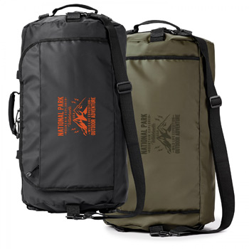 CALL OF THE WILD. WATER RESISTANT 45L DUFFLE BACKPACK