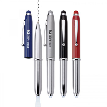 Fiona. 3-In-1 Mini Pen/Light/Stylus