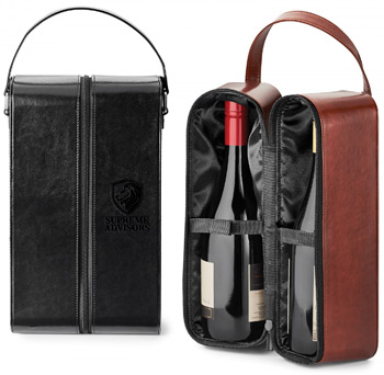 FABRIZIO .  DUAL WINE CARRYING CASE