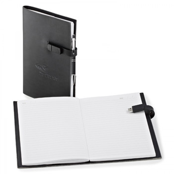 USB. REFILLABLE JOURNAL COMBO