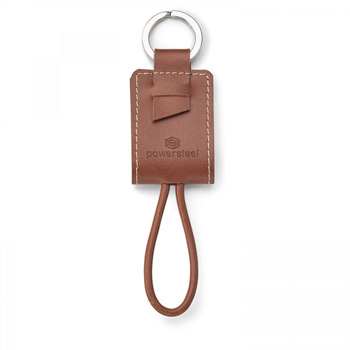 Nathan. Genuine Leather. Key Ring/Charging Kit